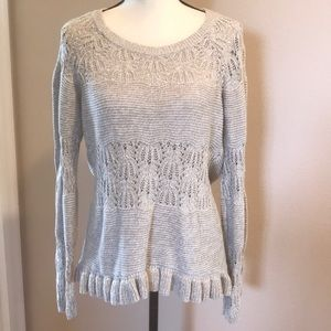 DKNY Jeans Tan Knit Sweater In Size Medium.